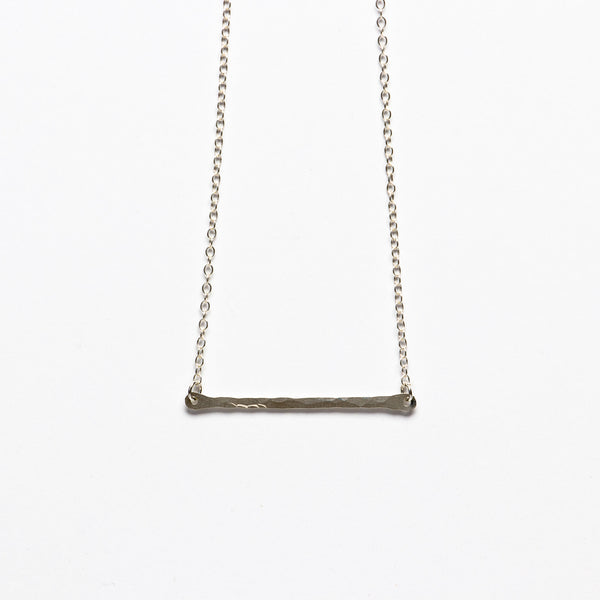 Jessica Decarlo - Hammered silver bar necklace