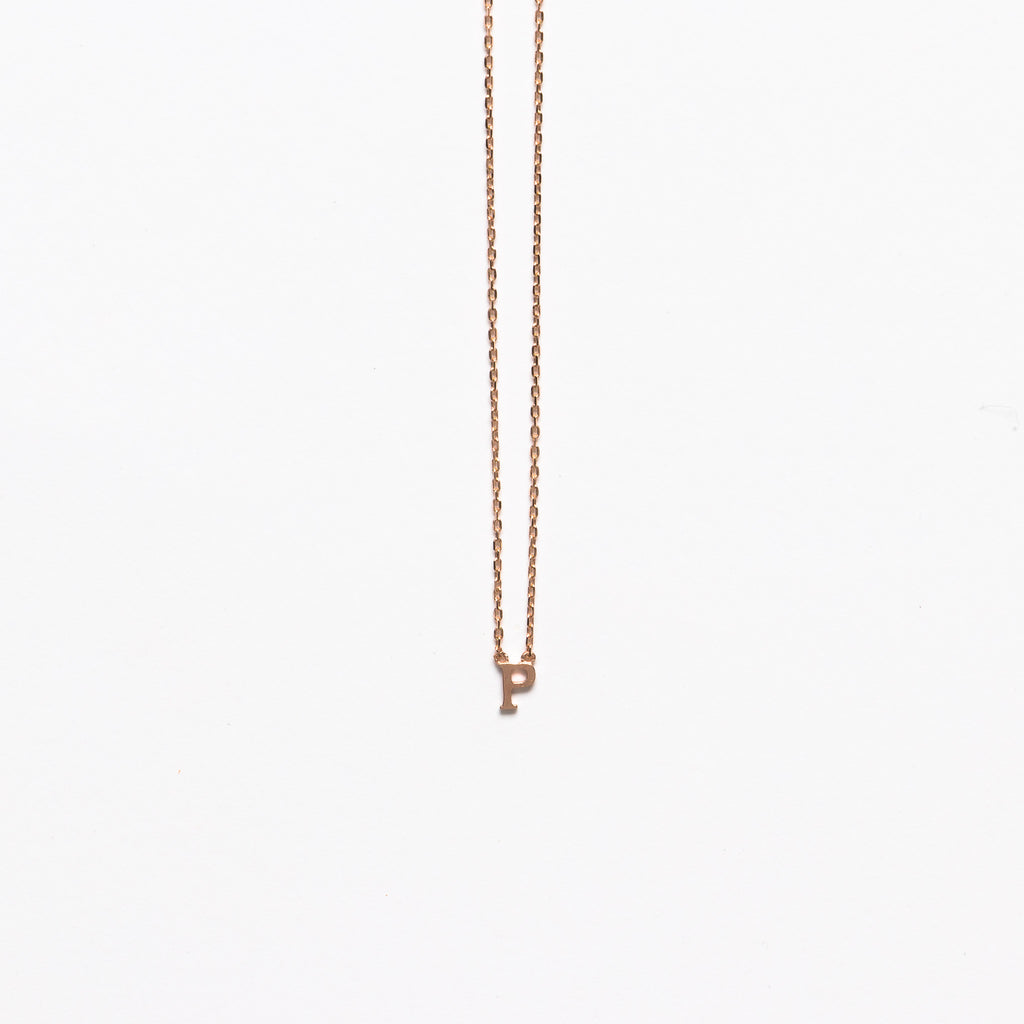 NFC - Mini Initial P Necklace