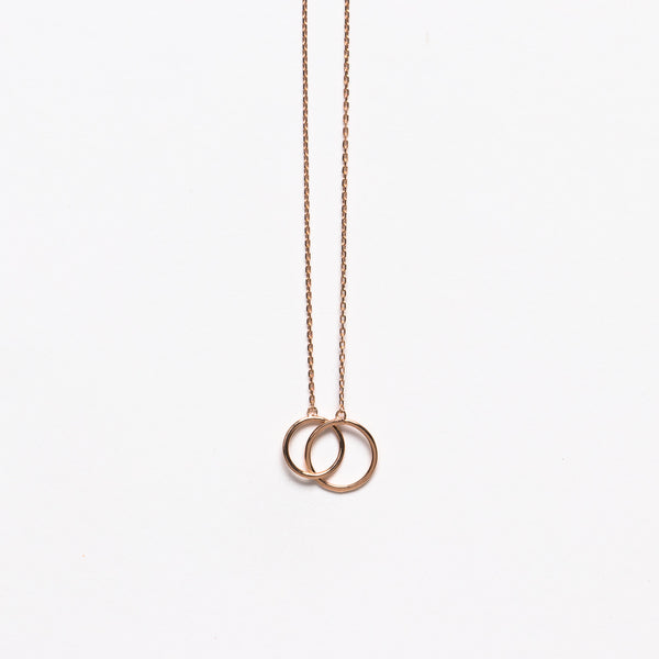 NFC - Duo necklace in rose gold