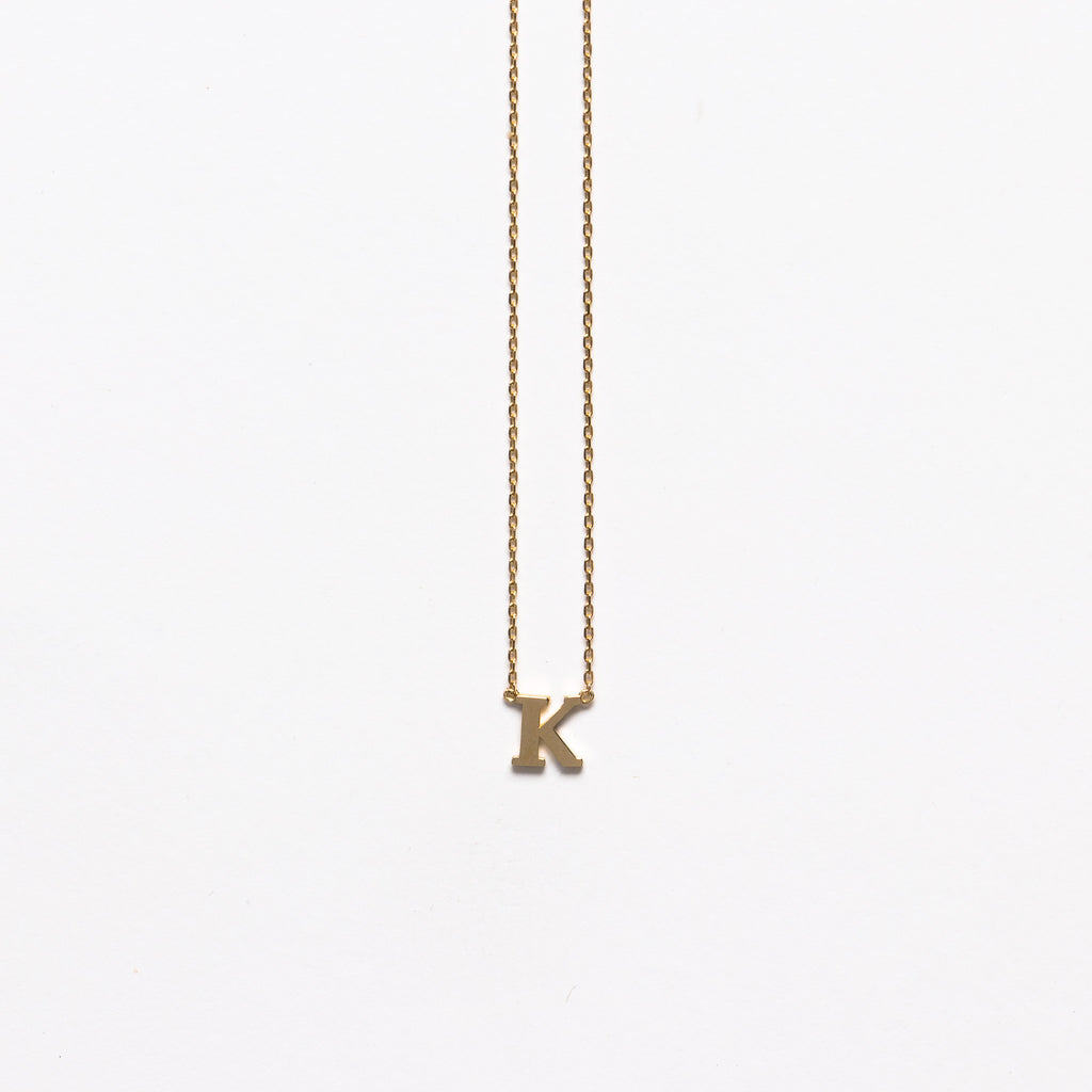 NFC - Small K necklace