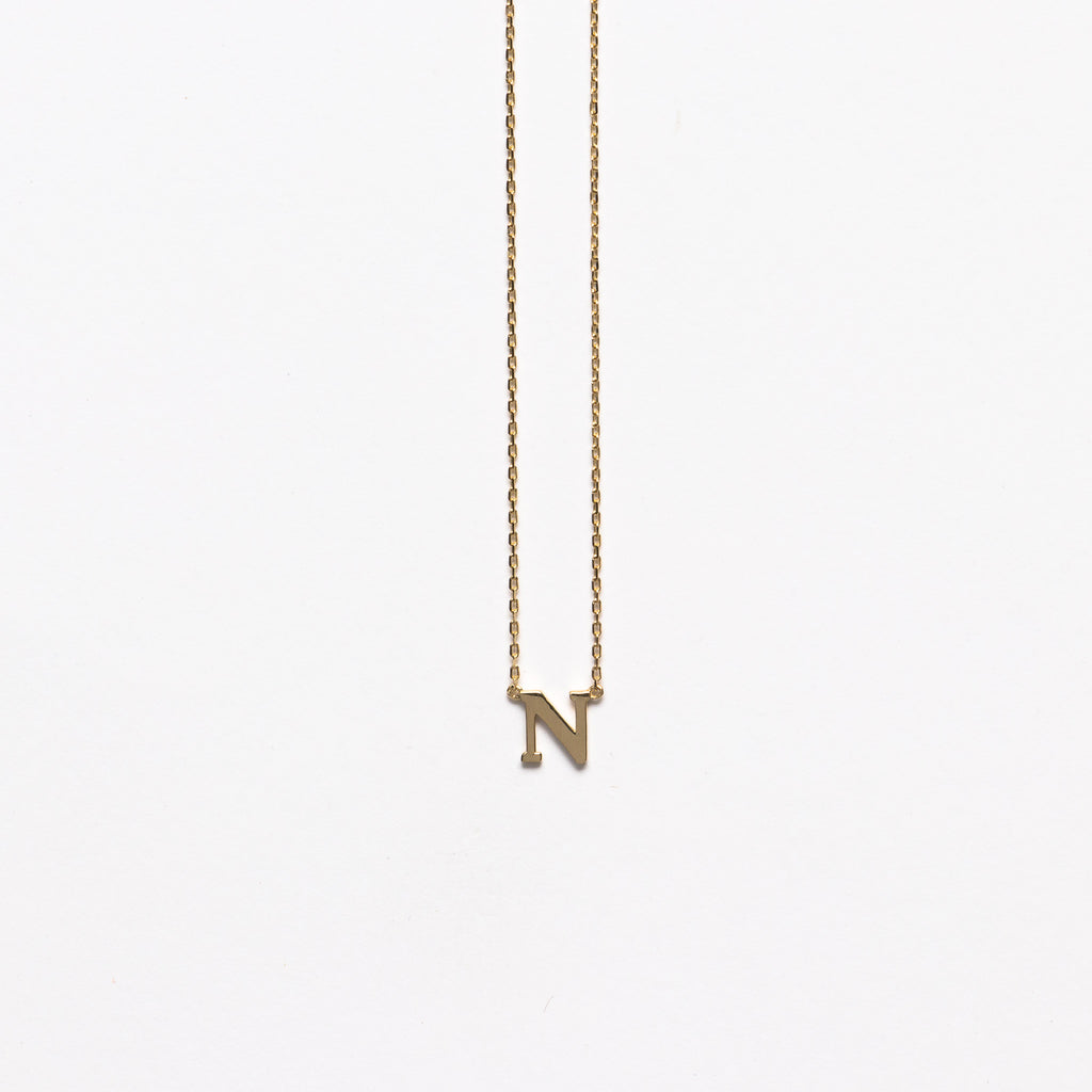 NFC - Small N necklace