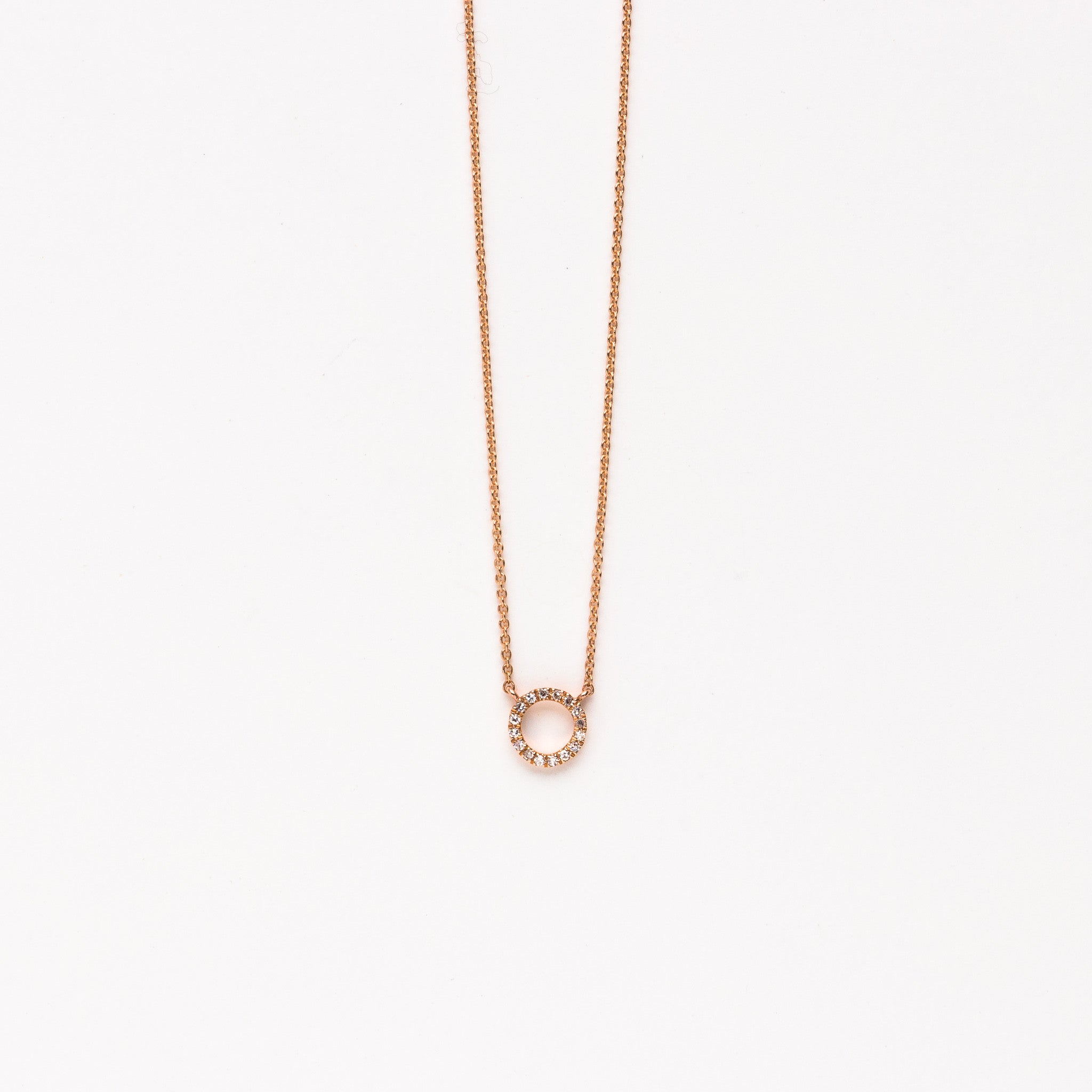 Liven small diamond circle necklace in rose gold norbu liven small diamond circle necklace in rose gold aloadofball Image collections