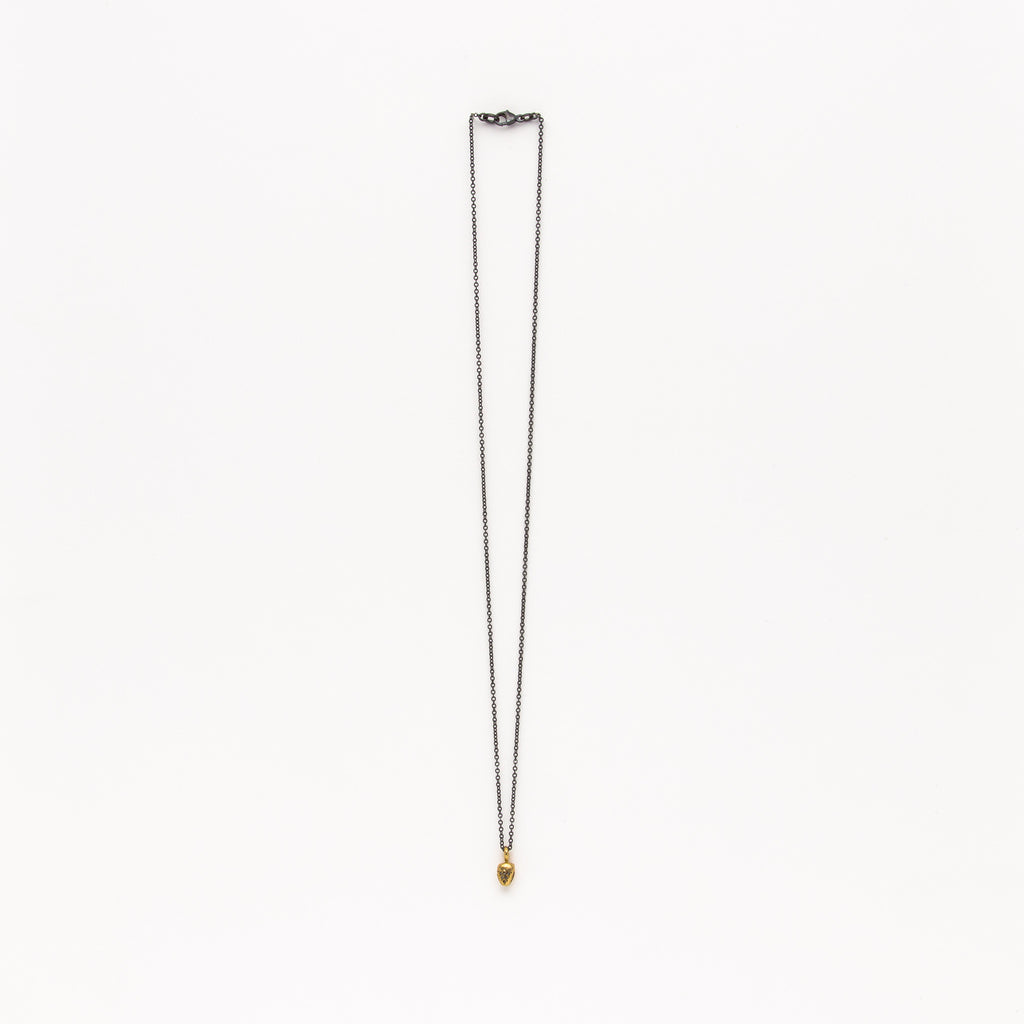 Satomi Studio - Pyramid with Diamond Necklace