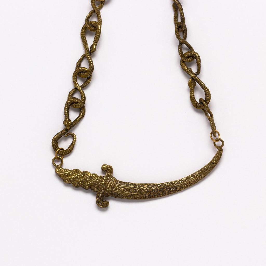 Alkemie Jewelry - Sword and snake necklace