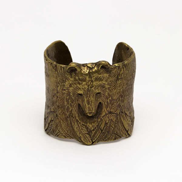 Alkemie Jewelry - Bear and feather cuff