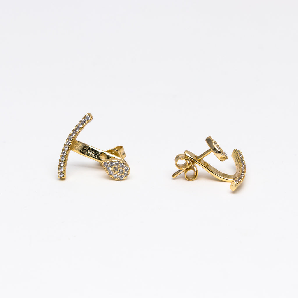 NSC - Pave Curved Ear Jackets