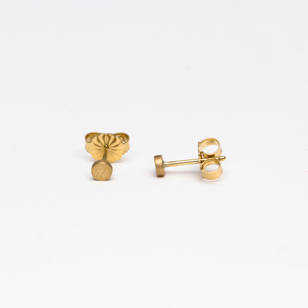 Carla Caruso -  Circle Button Stud Earrings