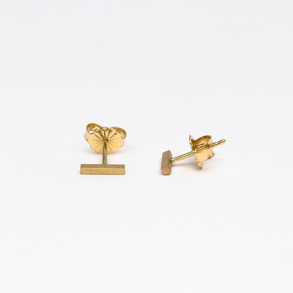 Carla Caruso - Edgy Bar Stud Earrings