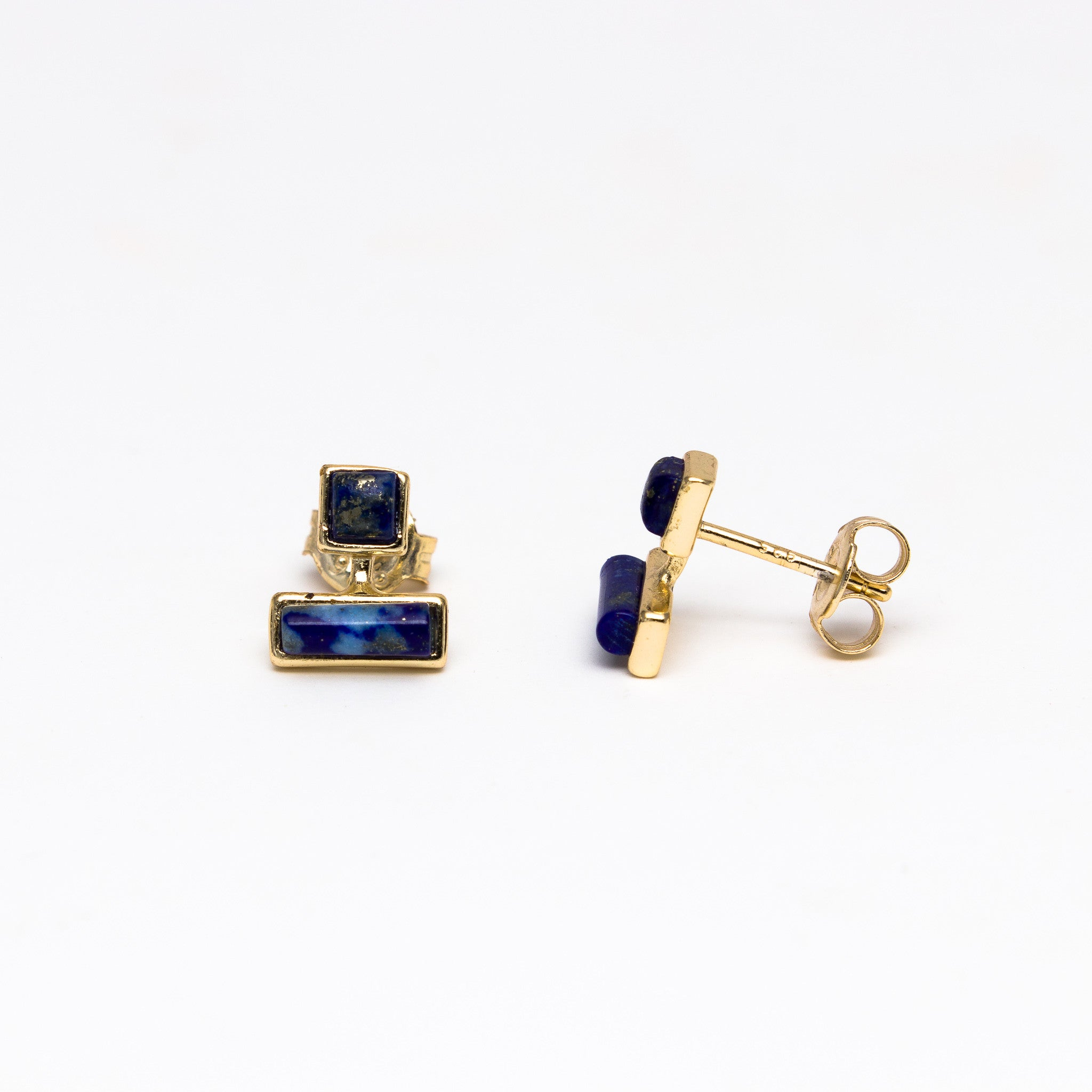 gold jewelry blue irene earrings product lazuli lyst lapis in metallic gallery neuwirth stud normal