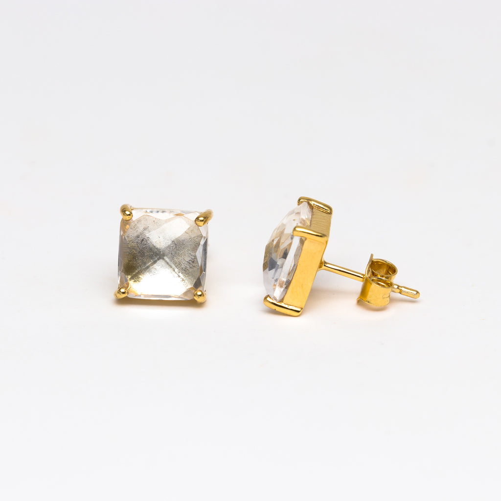 NSC - Crystal square stud earrings