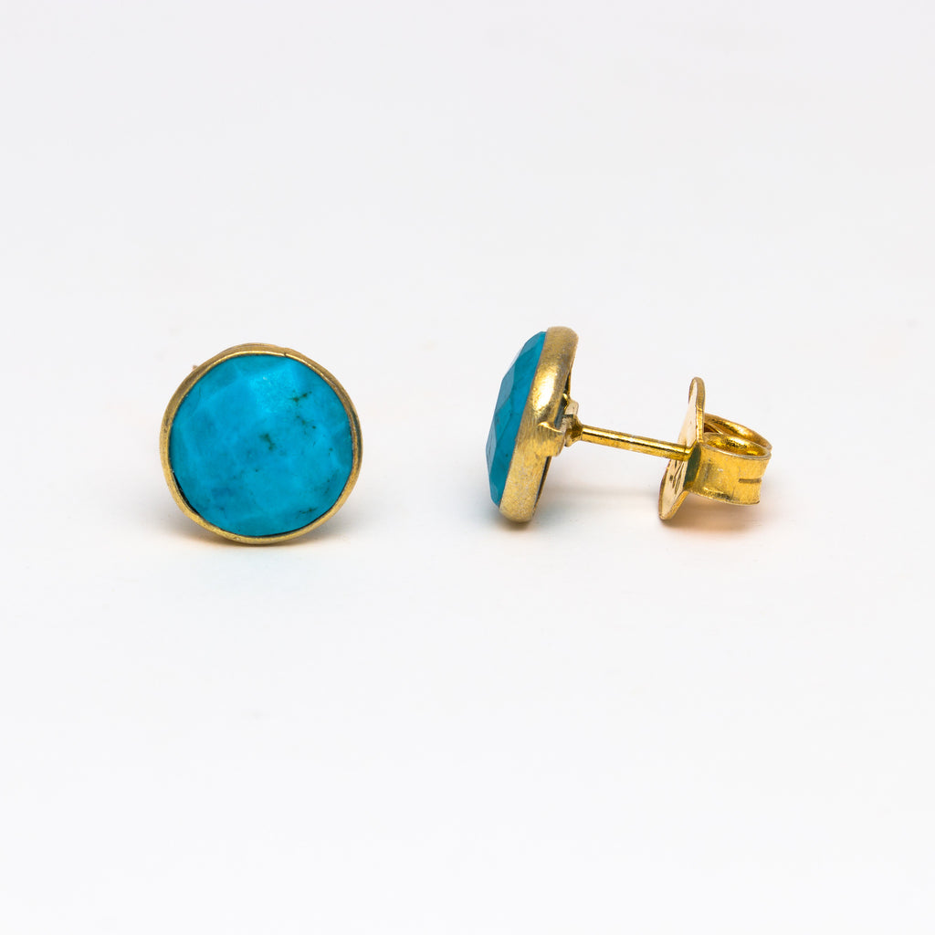 NSC - Turquoise round stud earrings