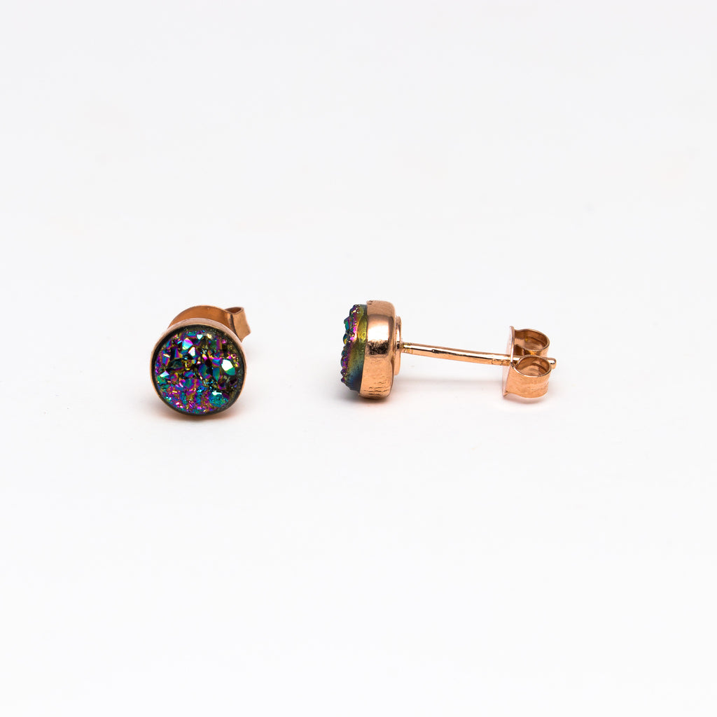 NSC - Druzy stud in rose gold