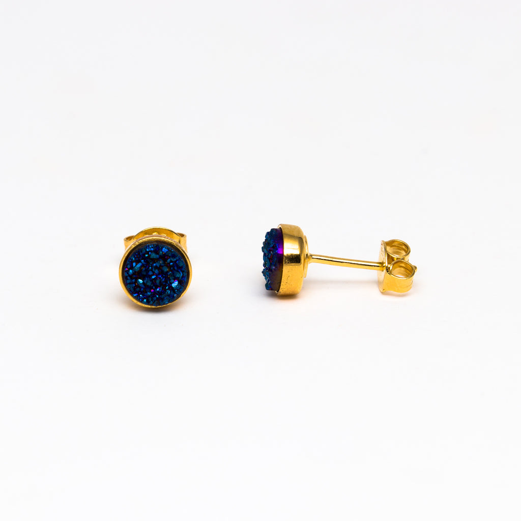 NSC - Druzy stud in yellow gold