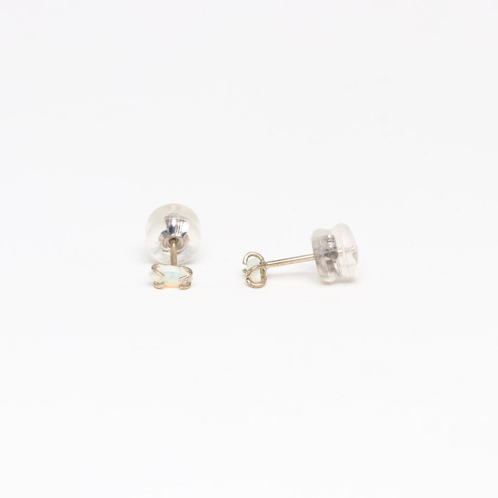 Melissa Joy Manning - Opal Silver Stud Earrings