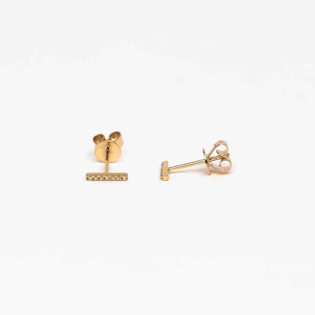 NFC - Diamond Bar Stud Earrings