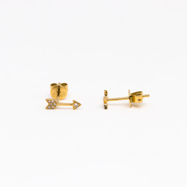 NFC - Diamond Arrow Stud in Yellow gold
