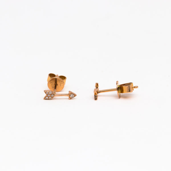 NFC - Diamond Arrow Stud in Rose Gold