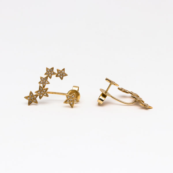NFC - Diamond Star Cuff Earring in Yellow Gold