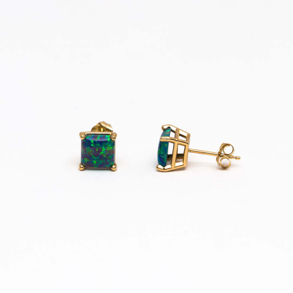 NFC - Large Opal stud earrings