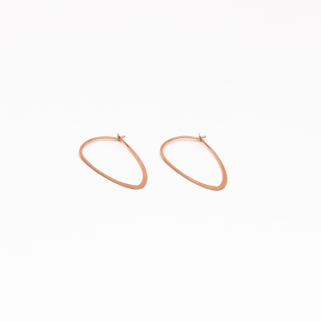 Melissa Joy Manning - Medium Leaf Hoops