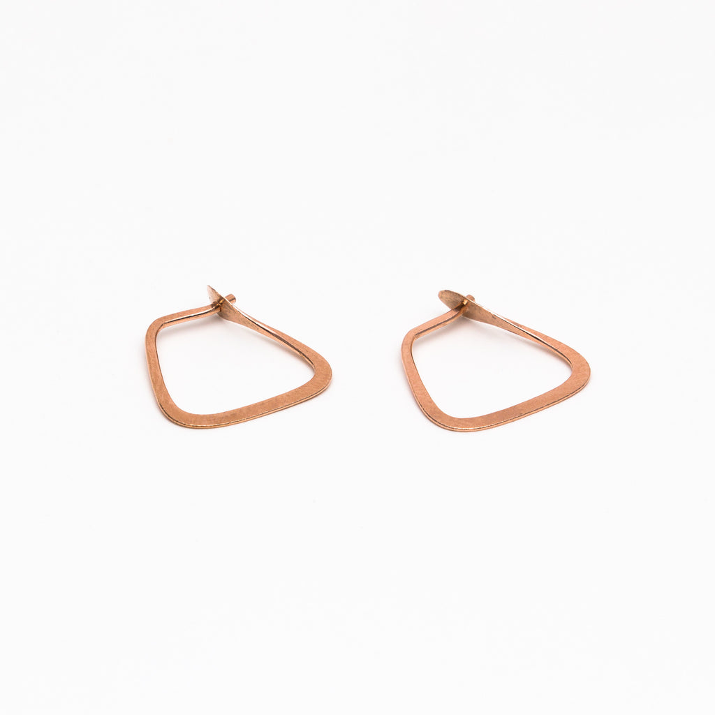 Melissa Joy Manning - Small square hoops