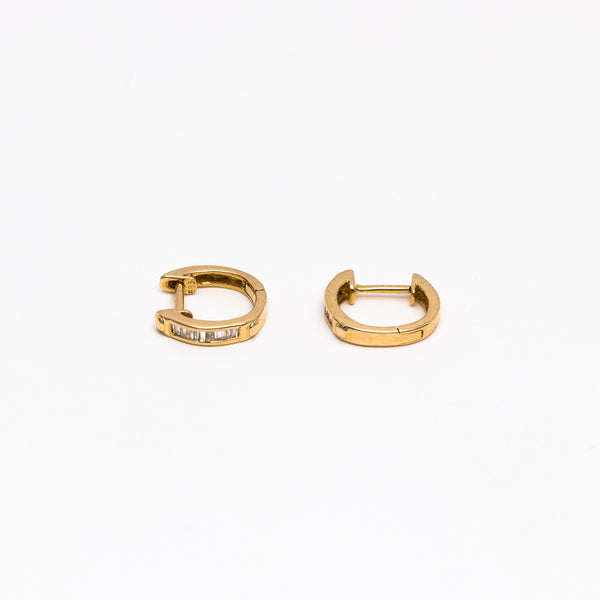 NFC - Diamond Hoops in Yellow Gold