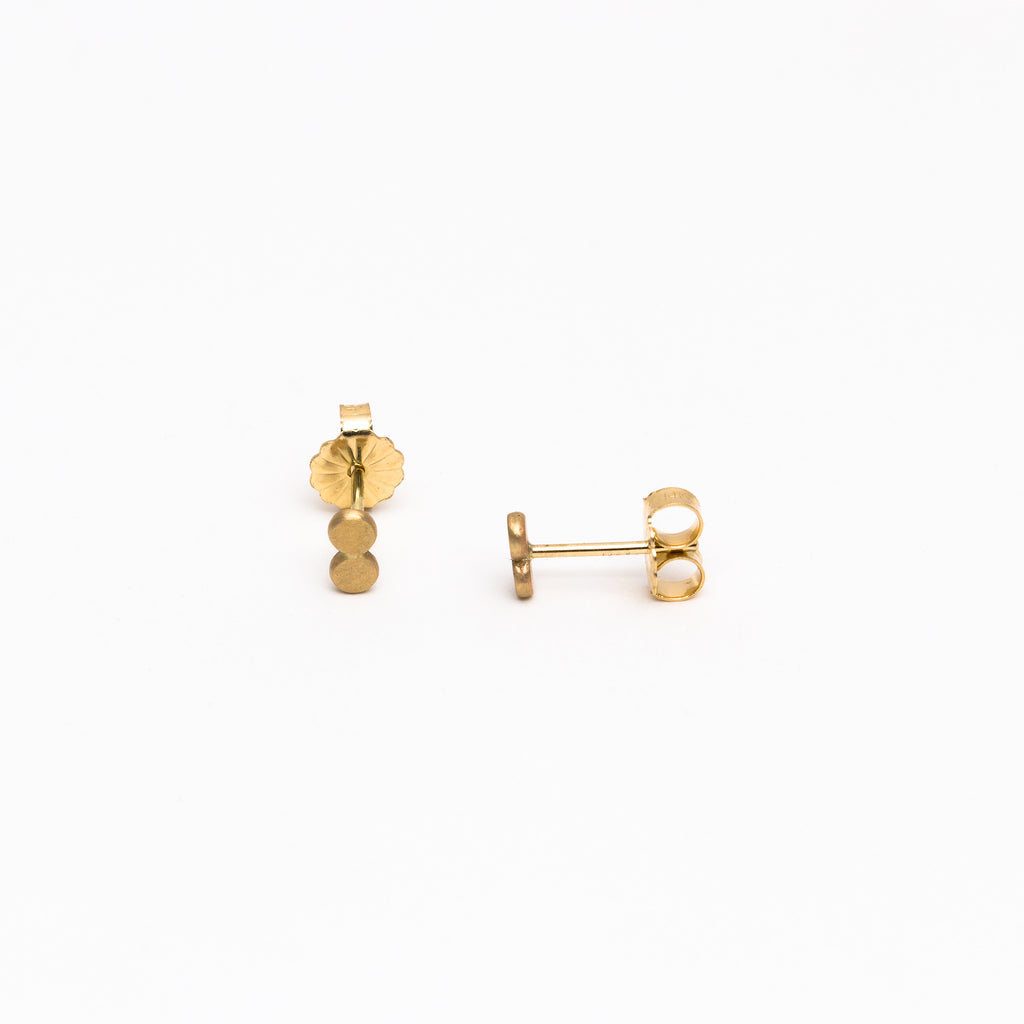 Carla Caruso - Plain Lovebird Stud Earrings