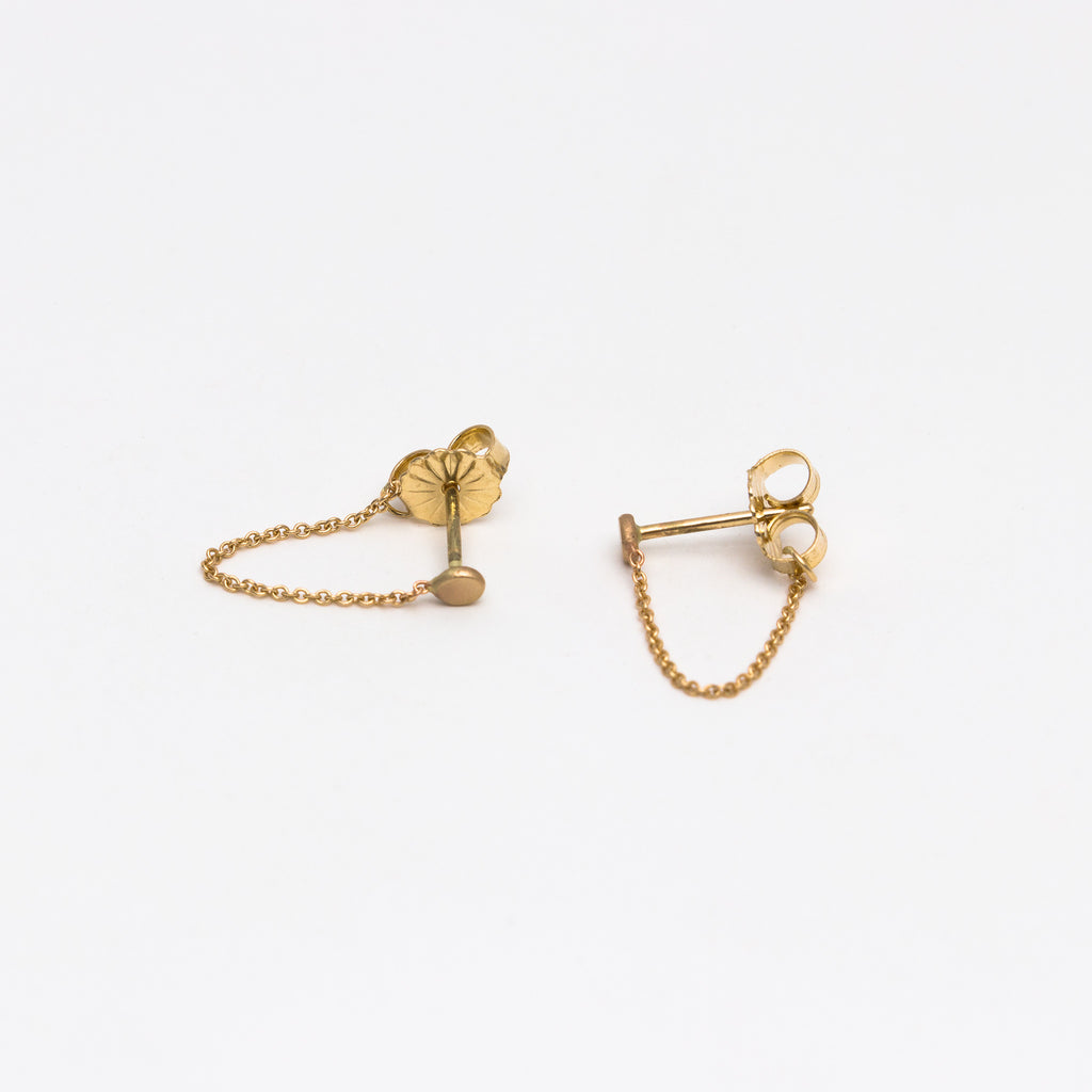 Carla Caruso - Single Chain Stud Earrings