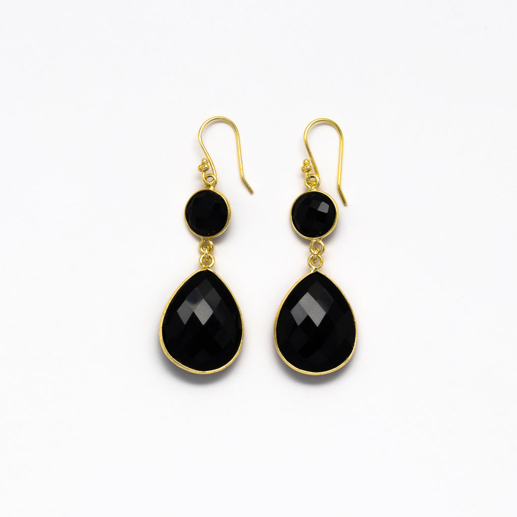 Lhamo - Double drop earrings