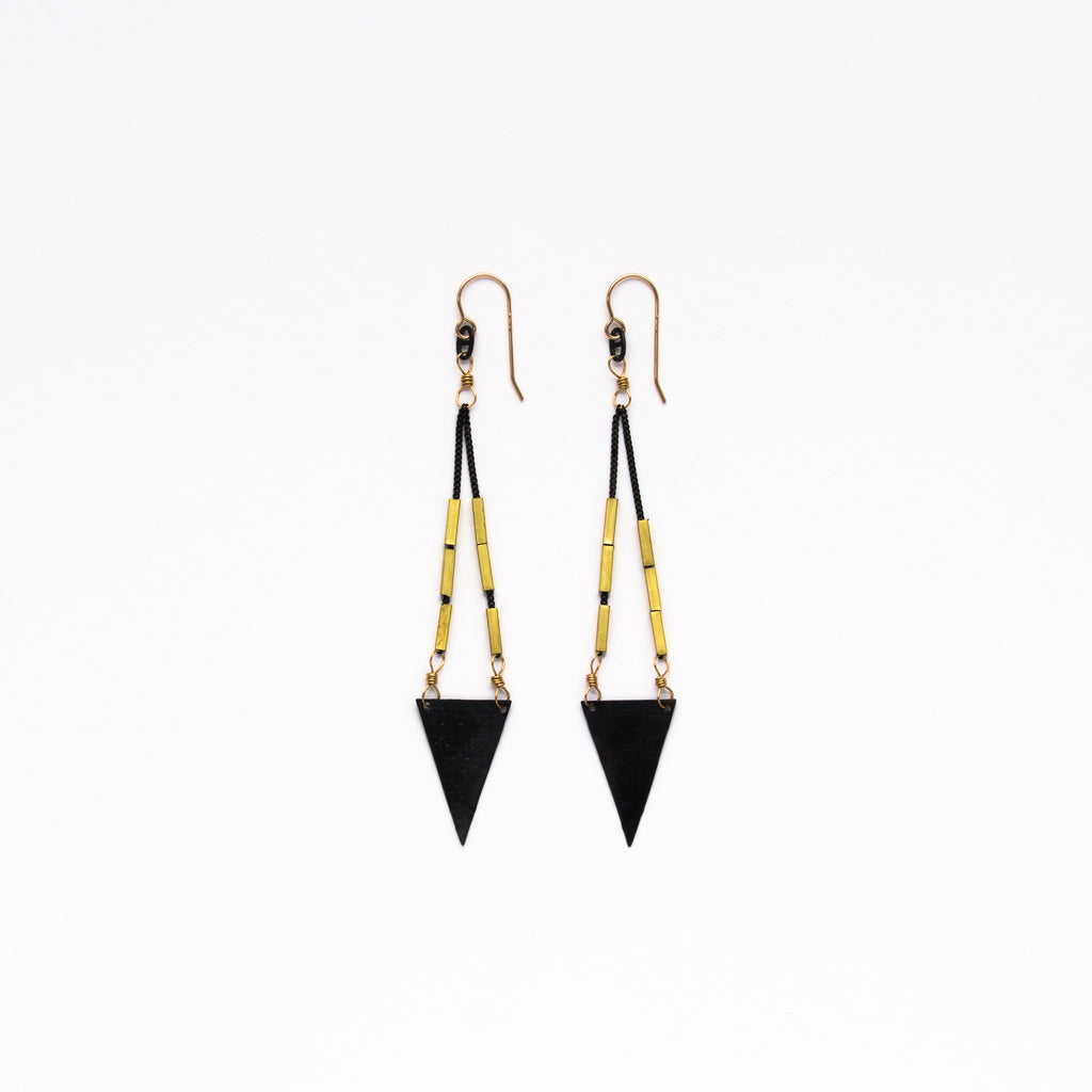 Cecilia Gonzales - Artemis Black Earrings
