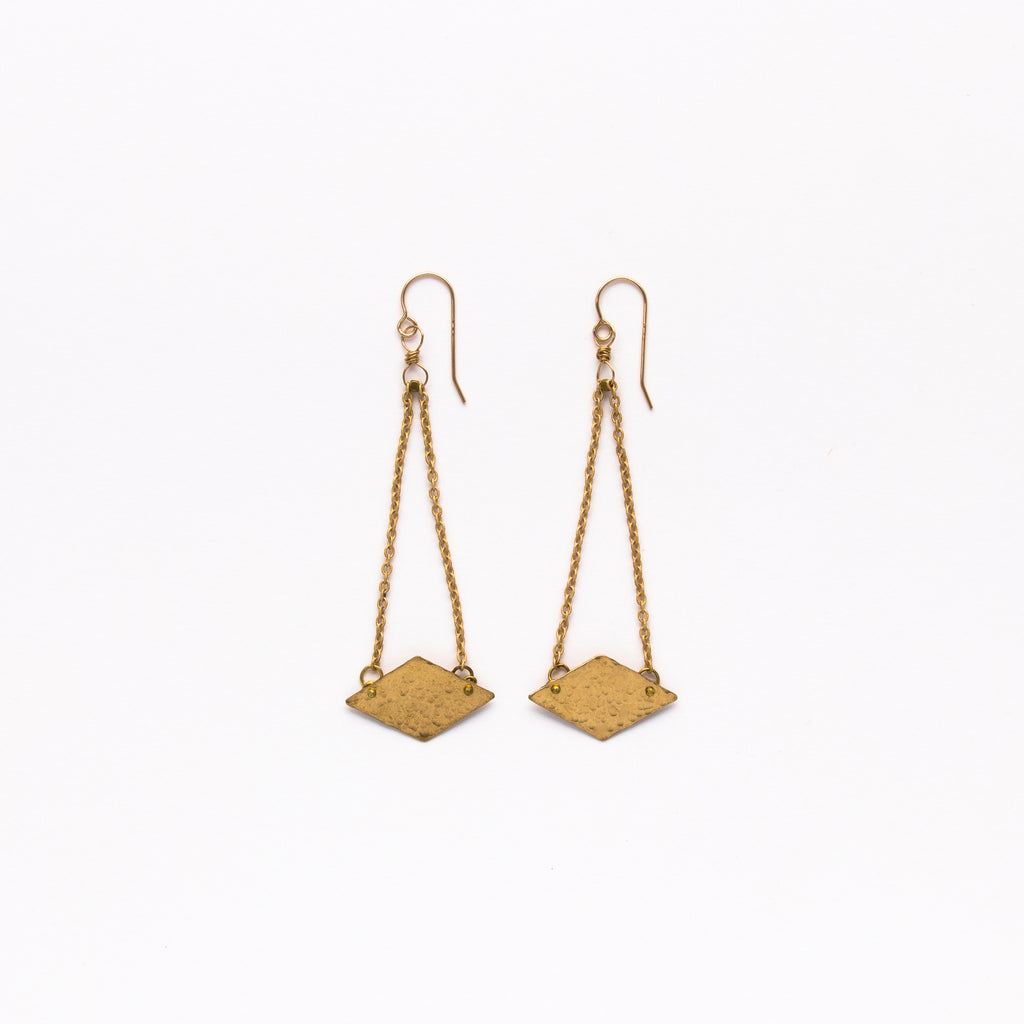 Cecilia Gonzales - Stingray Gold Earrings
