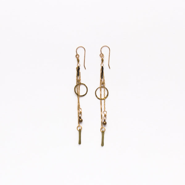 Cecilia Gonzales - Circle Gold Earrings