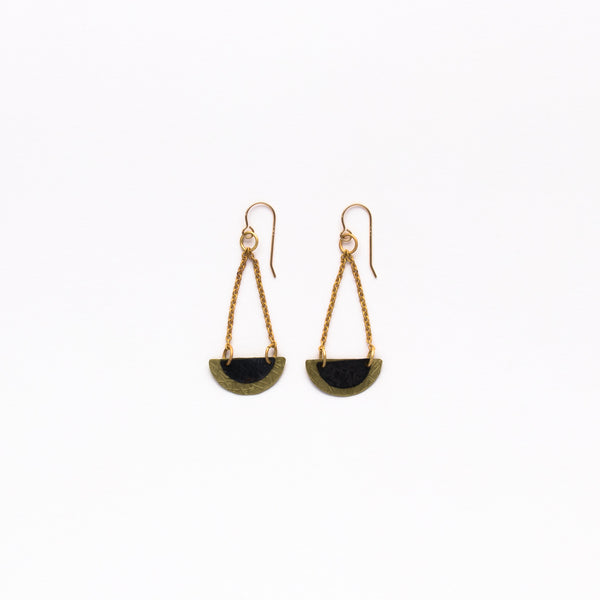 Cecilia Gonzales - Semi Circle Gold Earrings