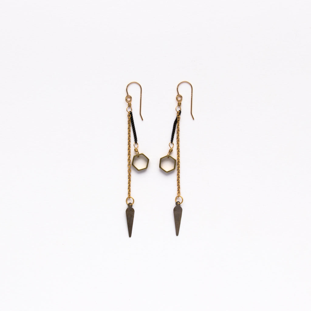 Cecilia Gonzales - Pointy Hex Mix Earrings - Norbu