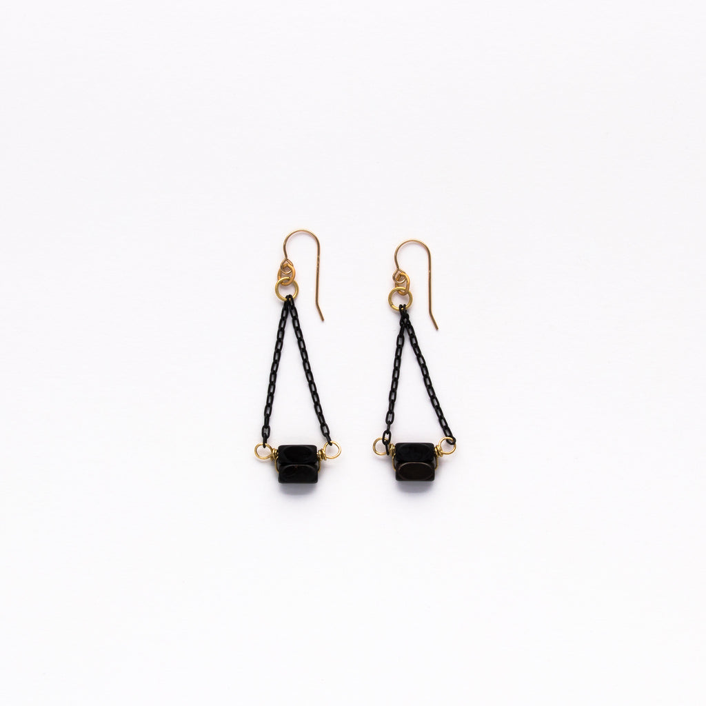 Cecilia Gonzales - Swinging Black Earrings