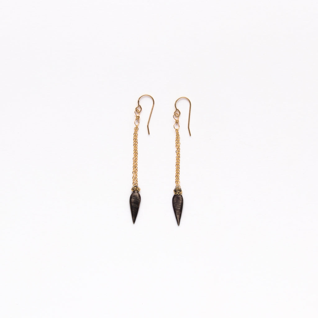 Cecilia Gonzales - Warrior Princess Gold Earrings