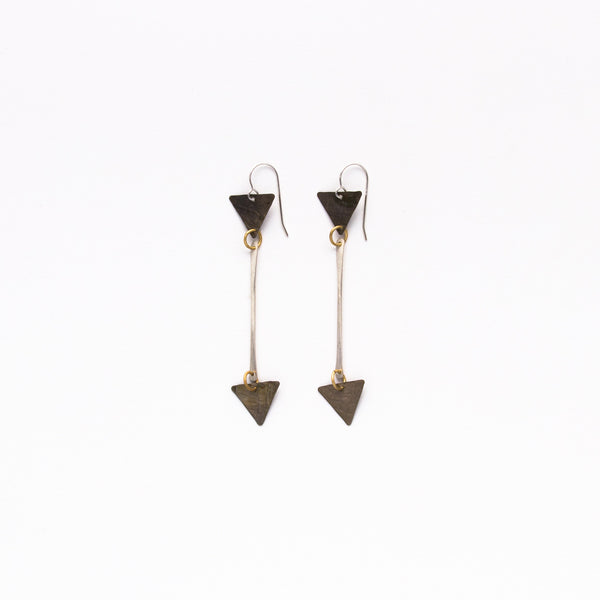 Cecilia Gonzales - Double Bell Silver Earrings