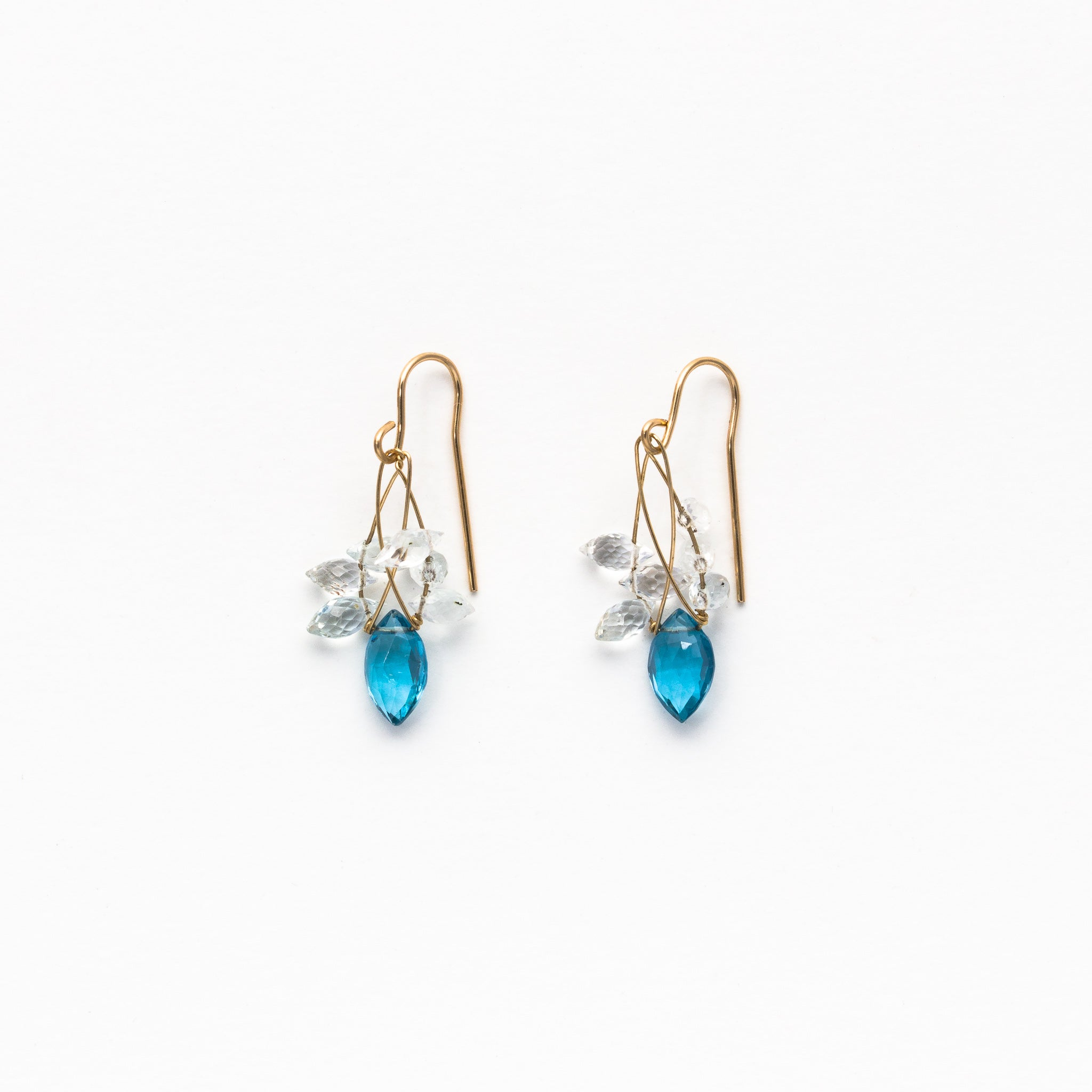blue topaz beauty with white earrings mines product and sonora turquoise pangea