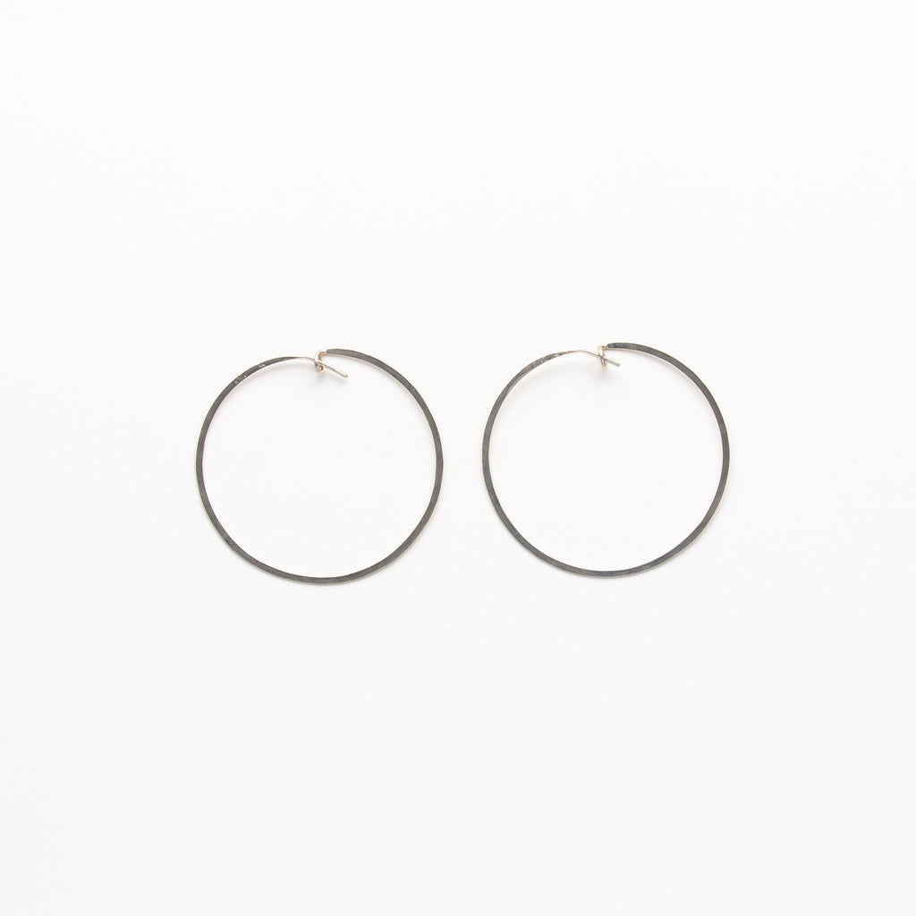Jessica Decarlo - Large Hammered Hoops