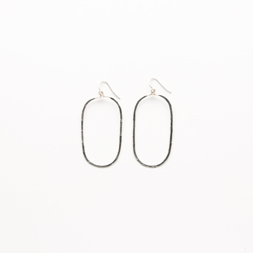 NSC - Hammered Oval Earrings