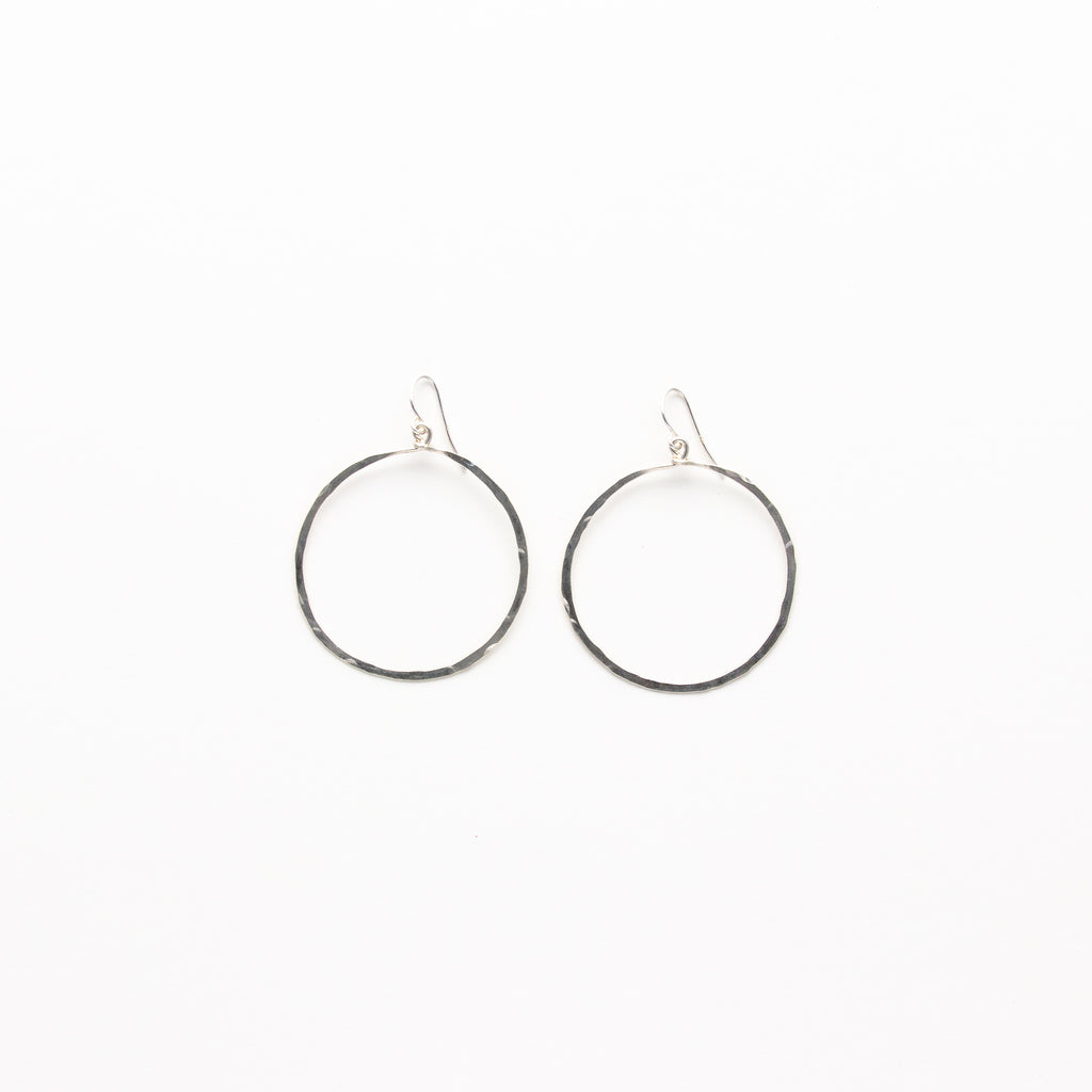 NSC - Hammered Circle Earrings