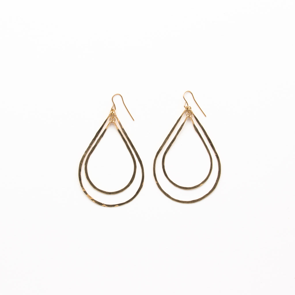 NSC - Hammered Multi Teardrop Earrings