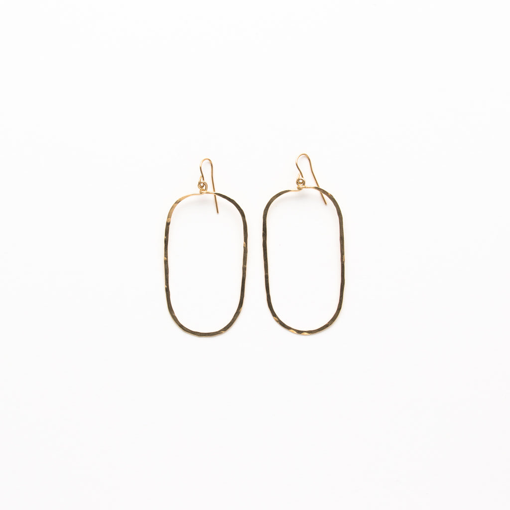 earrings tara jewelry hoop in oval fine gold white