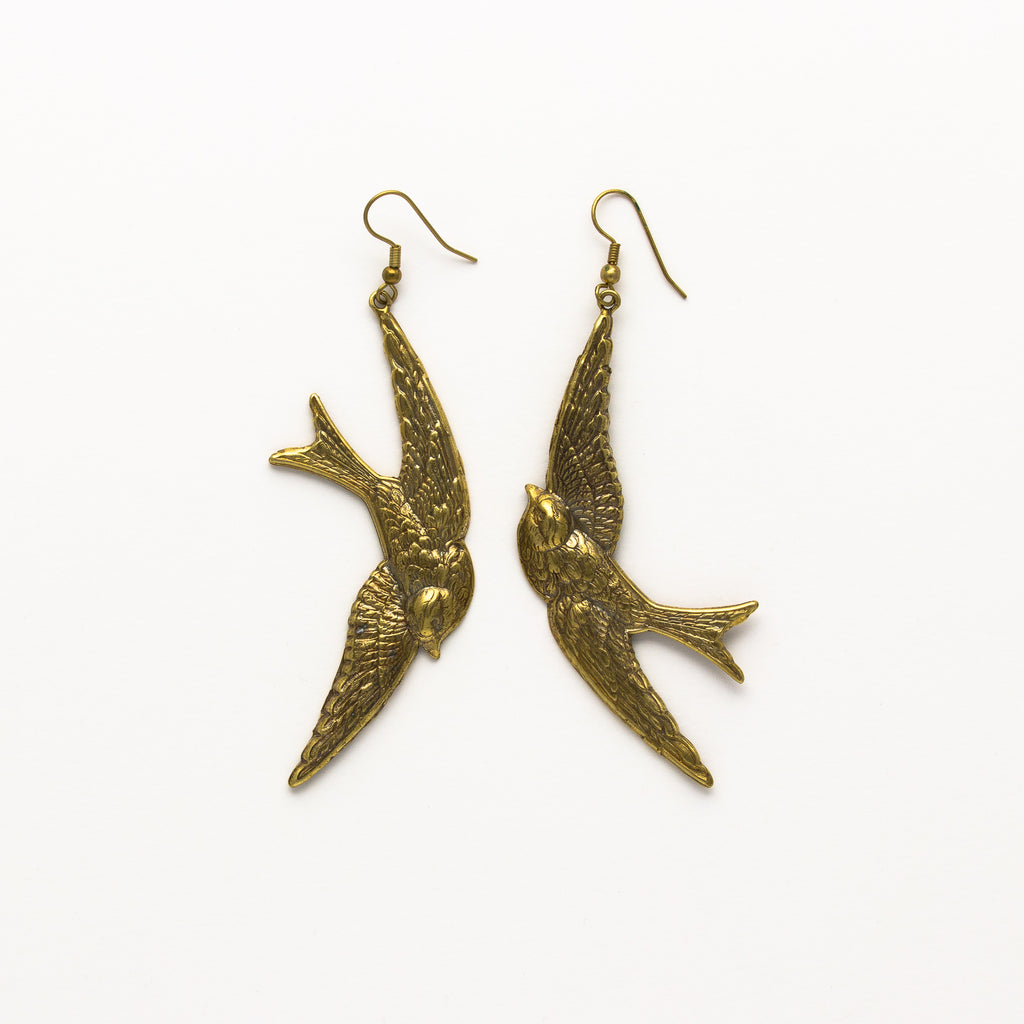 Alkemie Jewelry - Mother Swallow Earrings