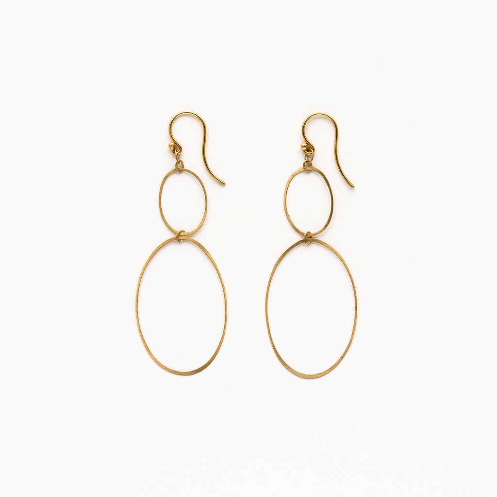 Carla Caruso - Two Ellipse Earrings