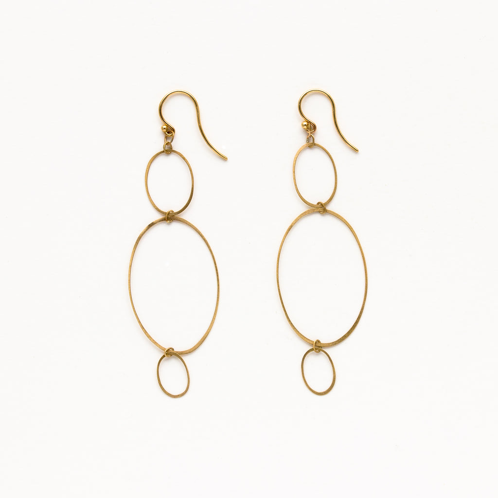 Carla Caruso - Three Ellipse Earrings
