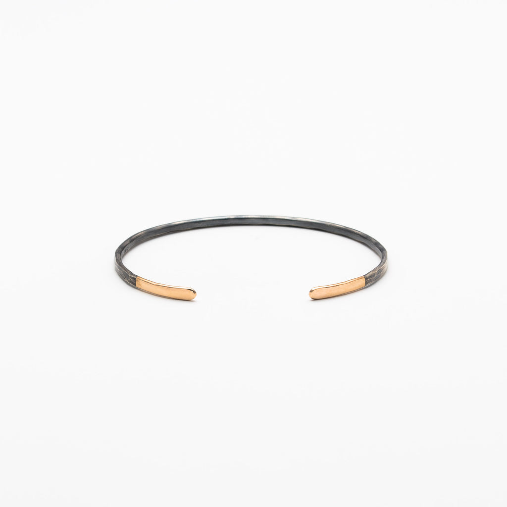 Melissa Joy Manning - Gold Tipped Black Oxidized Silver Cuff