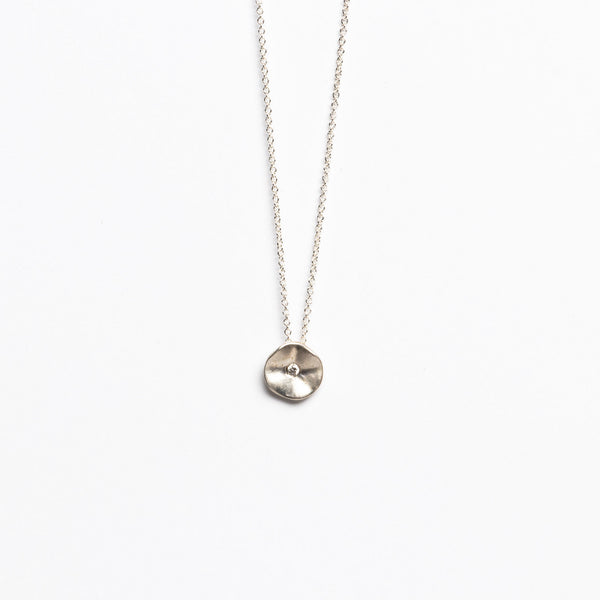 Branch Jewelry - Seed necklace with diamond