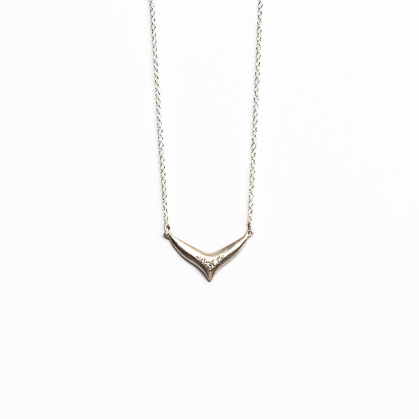 Branch Jewelry - Large fin necklace in silver