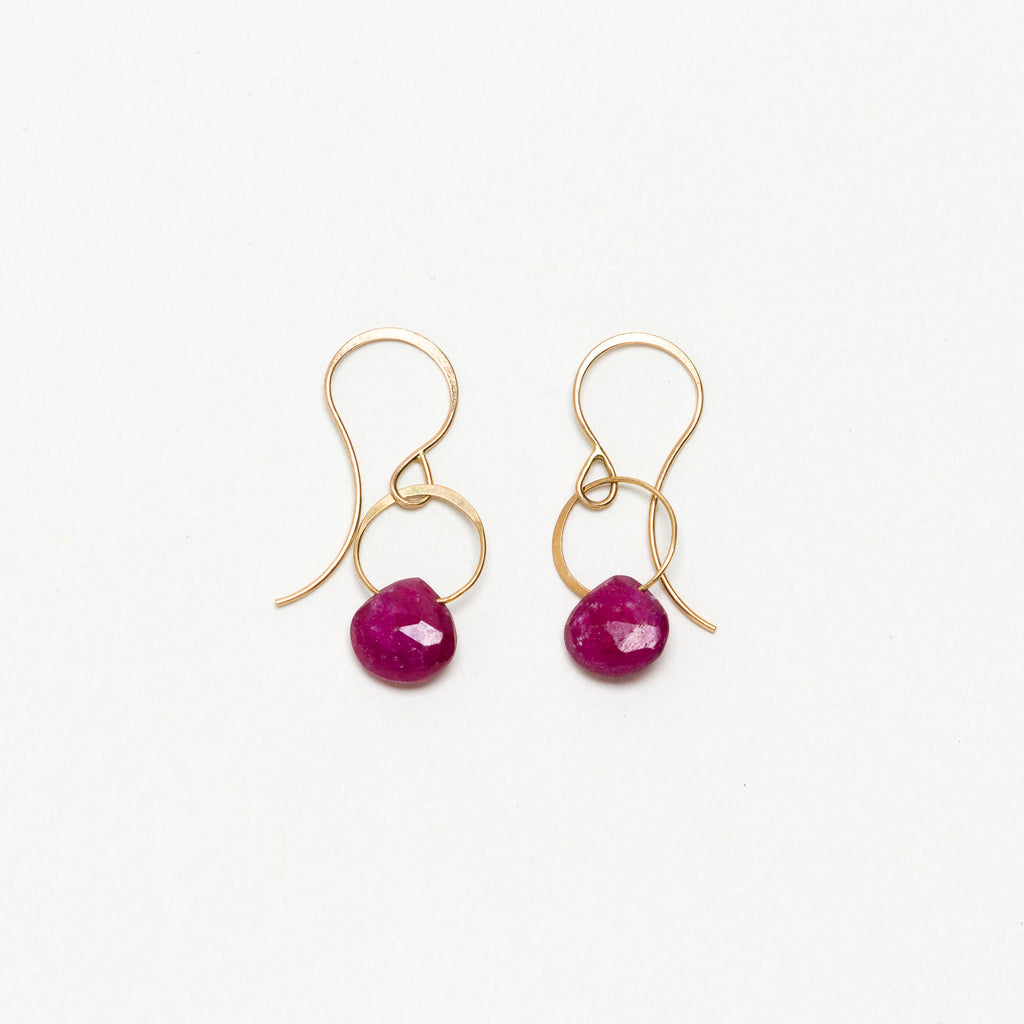 Melissa Joy Manning - Ruby Drop Earrings